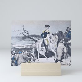 Nathaniel Currier - Washington Crossing the Delaware - Evening Previous to the Battle of Trenton, December 25th, 1776 Mini Art Print