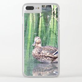 Two Ducks Clear iPhone Case