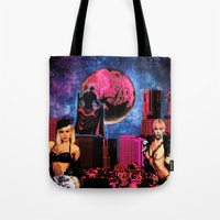 satan Tote Bags featuring Satan by Marina Poison