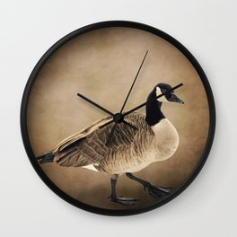 Canada Goose Portrait Wall Clock