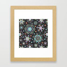 Snowflake Filigree Framed Art Print