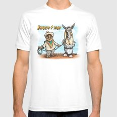 Burrito 4 Prez MEDIUM White Mens Fitted Tee