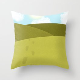 Foot Prints Throw Pillow