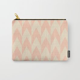Vintage Pink Uneven Chevron Pattern Carry-All Pouch
