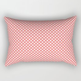 Georgia Peach and White Polka Dots Rectangular Pillow