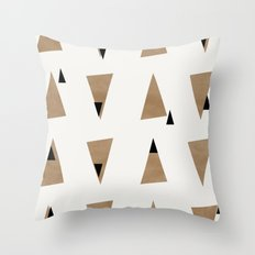 Triangles(Gold and Black) Throw Pillow