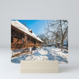 Fairy Tale Winter View at the Village Museum in Bucharest Mini Art Print