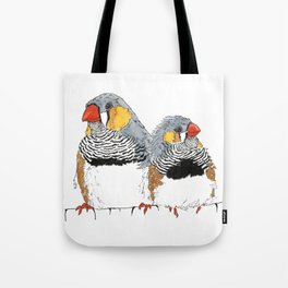 Zebra Finch Buddies Tote Bag