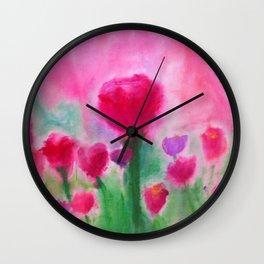 Marjean's Garden, ©Beth Slater Winnick Wall Clock
