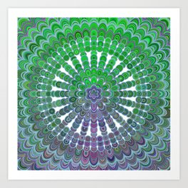 Spring Mandala Wheel Art Print
