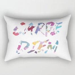 Carpe Diem Color Ink Rectangular Pillow