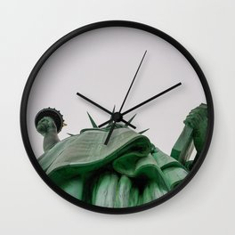 New York City: Statue of Liberty (Color) Wall Clock