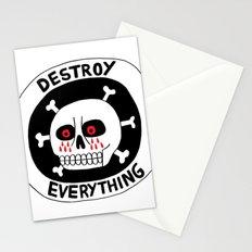 DESTROY EVERYTHING Stationery Cards