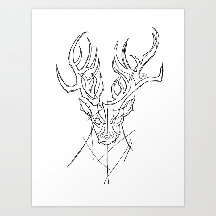 stag2 Art Print