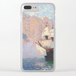 New Albion. Sir Francis Drake's ship Golden hind Clear iPhone Case