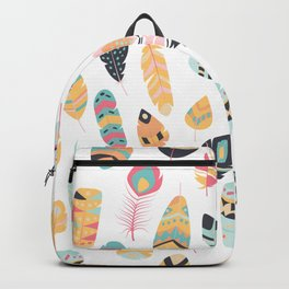 Tribal feather pattern Backpack