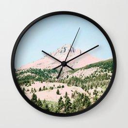 Happy Mountain #society6 #decor #buyart Wall Clock