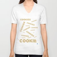 cookies V-neck T-shirts featuring COOKIES! by Lindsay Spillsbury