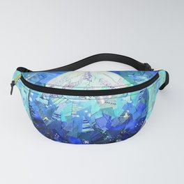Hydration Water Drop Collage Fanny Pack