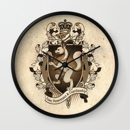 Wolf Coat Of Arms Heraldry Wall Clock