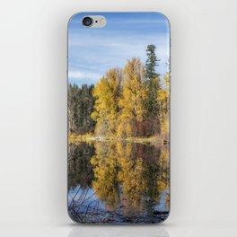 Autumn Makes an Appearance at Fish Lake iPhone Skin