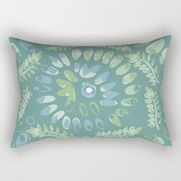 Pop abstract watercolor - geometric composition  Rectangular Pillow