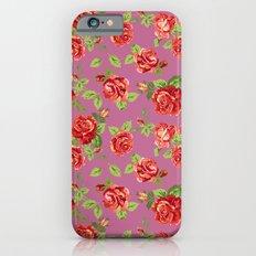 Rose pattern- pink iPhone 6s Slim Case