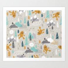Sasquatch Stomp Art Print