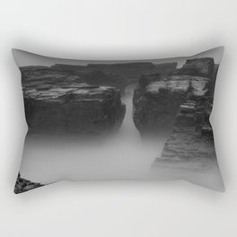 Godrevy Sea Mist and Fog, Cornwall, England, United Kingdom Rectangular Pillow