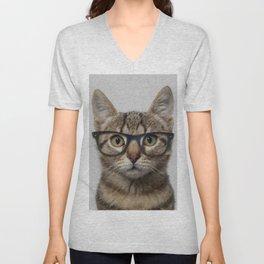 Geek cat Unisex V-Neck