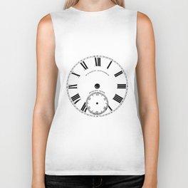 Time goes by vintage clock Biker Tank