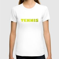tennis T-shirts featuring TENNIS by GvssPencil