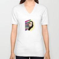 punisher V-neck T-shirts featuring The Punisher by Sten-Erik Villup