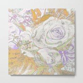 Soft Watercolors -Roses Metal Print