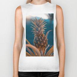 Sweet pineapple (Orange Teal) Biker Tank