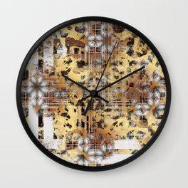 Abstract Animal Print Geometric Gothic Tile Wall Clock