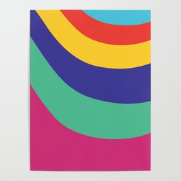 Melty: purple, green, blue, yellow, red and cyan Poster