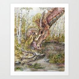 The Dragon's Sister Art Print