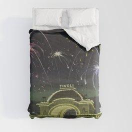 Vintage poster - Copenhagen, Denmark Comforters