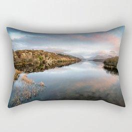 Lake Padarn Sunset Rectangular Pillow