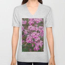 Purple Flowers in the Field Unisex V-Neck