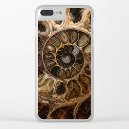 Earth treasures - Fossil in brown tones Clear iPhone Case