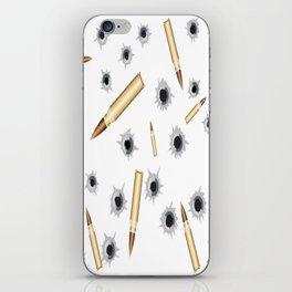 BULLETS N BULLET HOLES iPhone Skin
