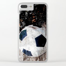 The soccer ball Clear iPhone Case