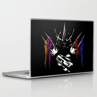 teenage mutant ninja turtles Laptop & iPad Skins featuring Shredder - Teenage Mutant Ninja Turtles by offbeatzombie
