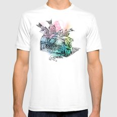 Fish Suitcase Mens Fitted Tee MEDIUM White