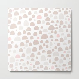 Pastel pink brown pastel color abstract iglo pattern Metal Print