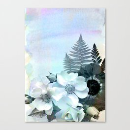 baby blue floral pattern Canvas Print