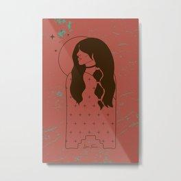 Moon Maiden in Adobe Metal Print