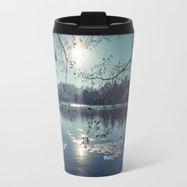 India - Blue lake Travel Mug